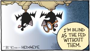 caricatura - cego como um morcego